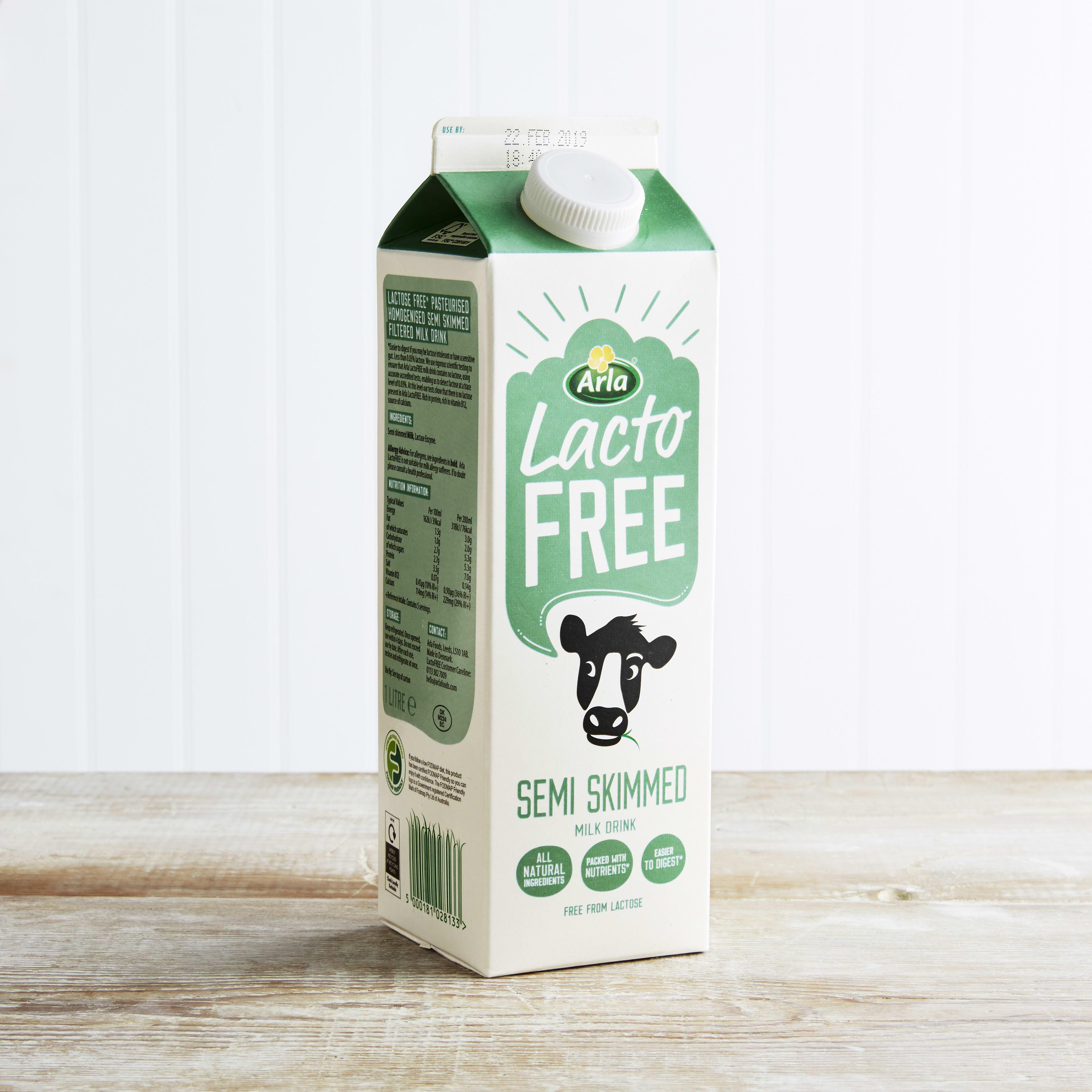 Fresh Arla Lactose free Milk, Semi Skimmed, 1L