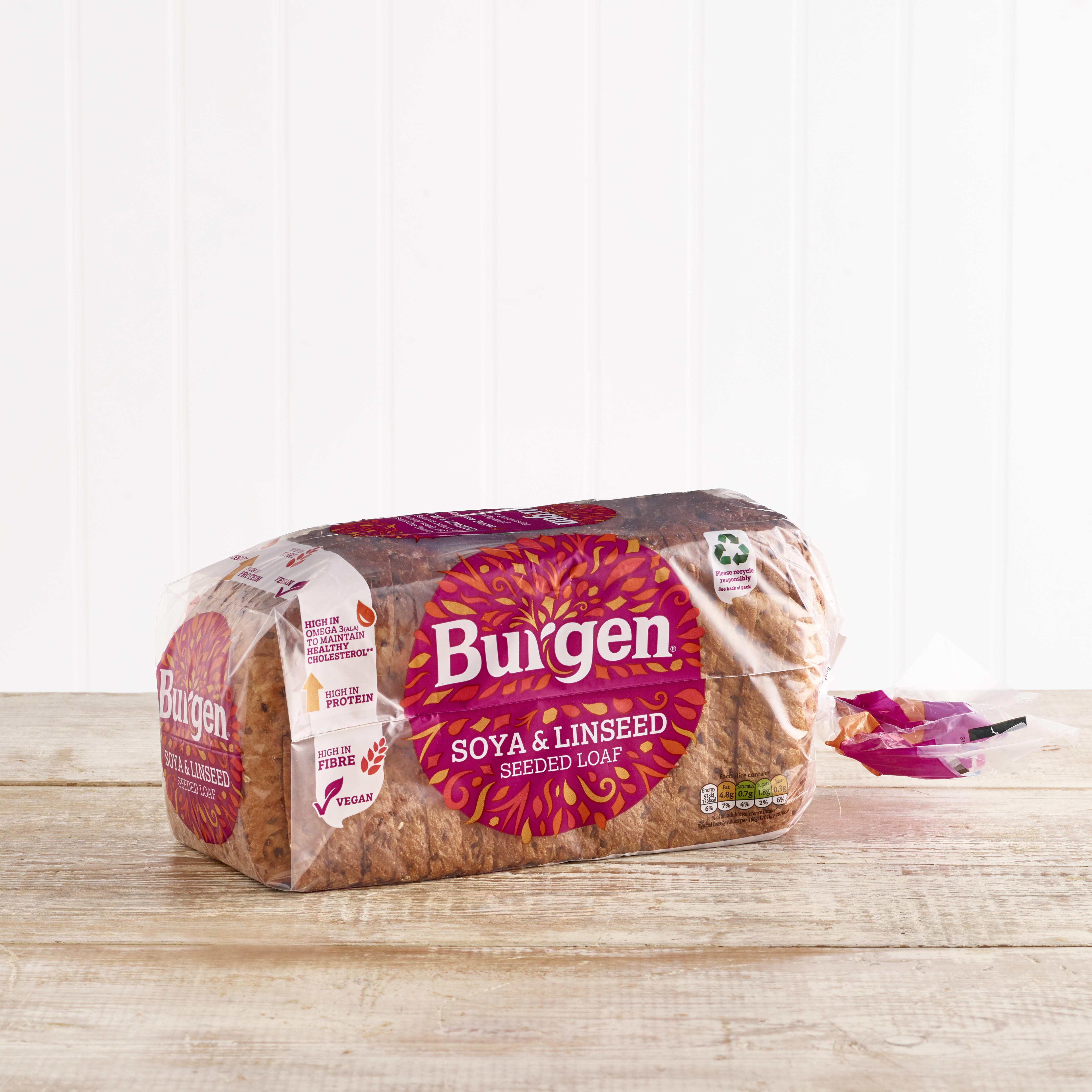 Burgen Soya & Linseed Seeded Loaf, 800g