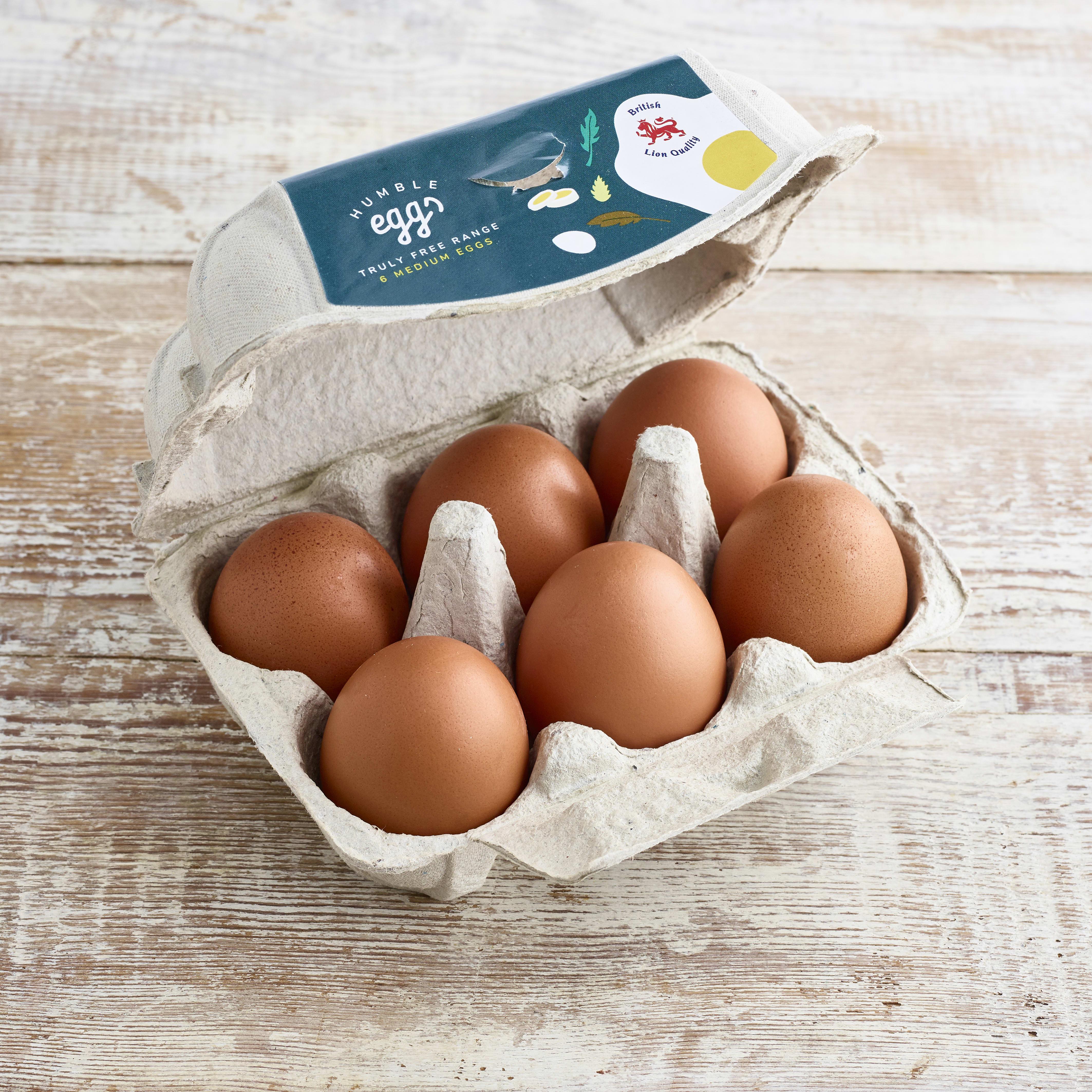 Humble Medium Free Range Eggs, 6 pack