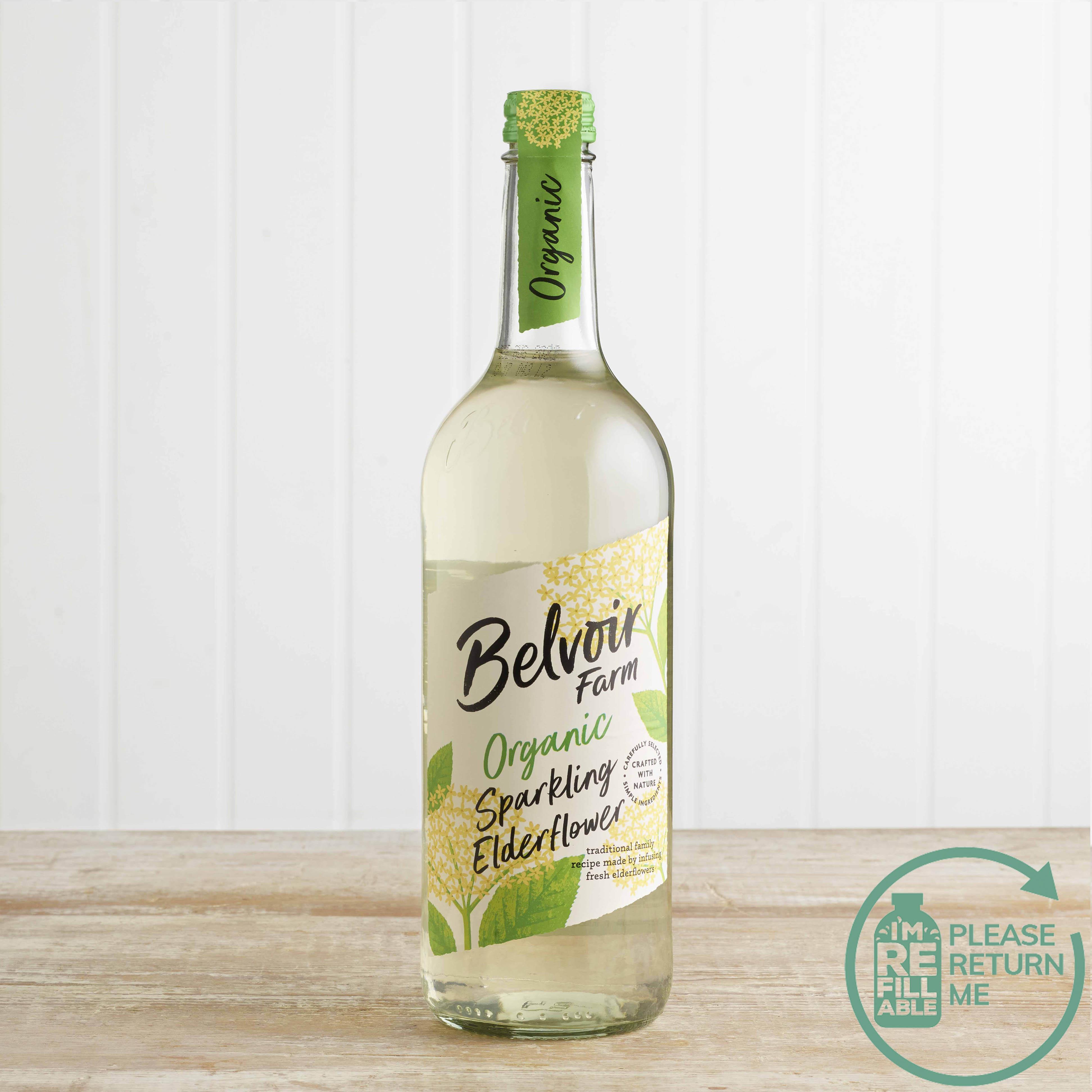 Belvoir Organic Elderflower Presse in Glass, 750ml