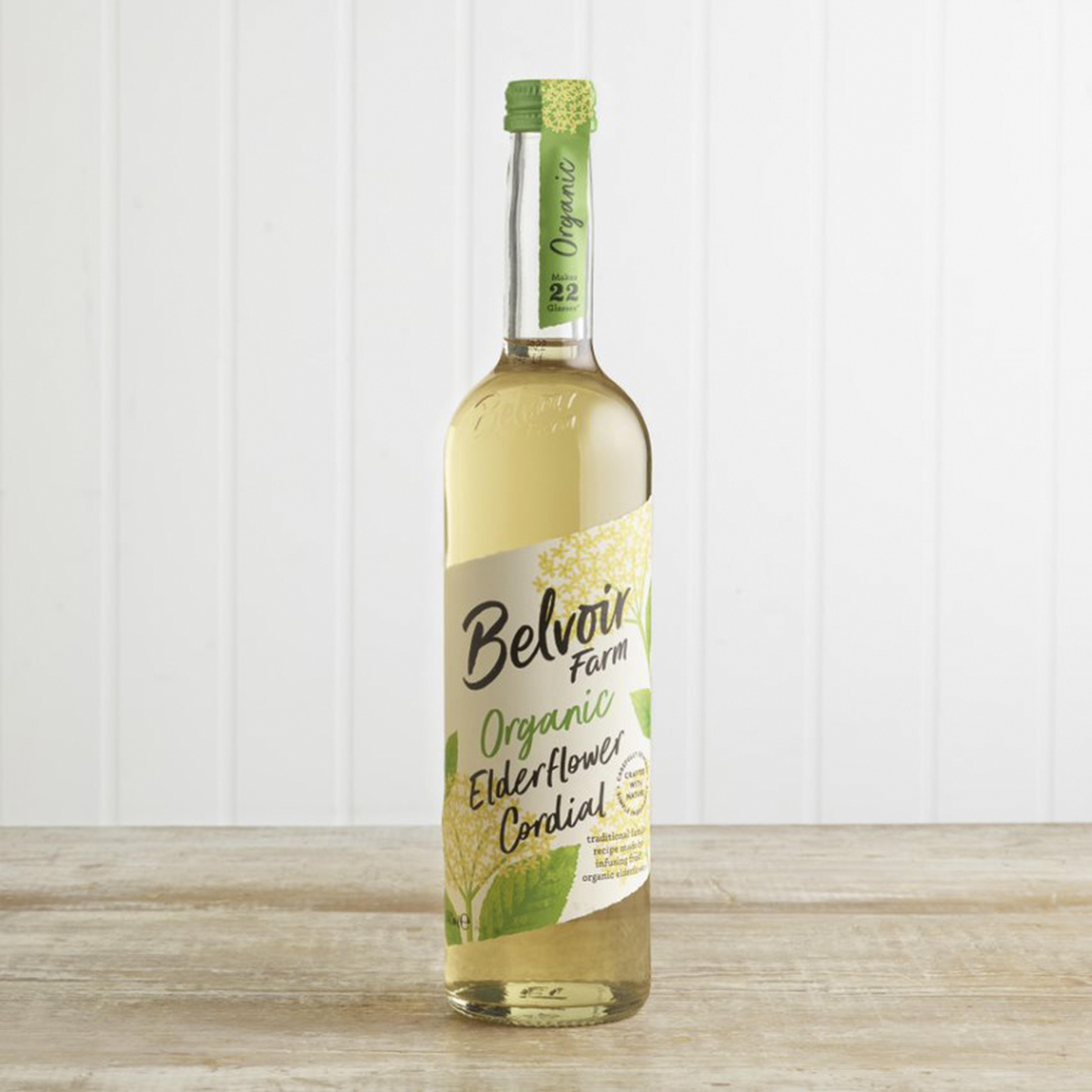 Belvoir Organic Elderflower Cordial in Glass, 500ml