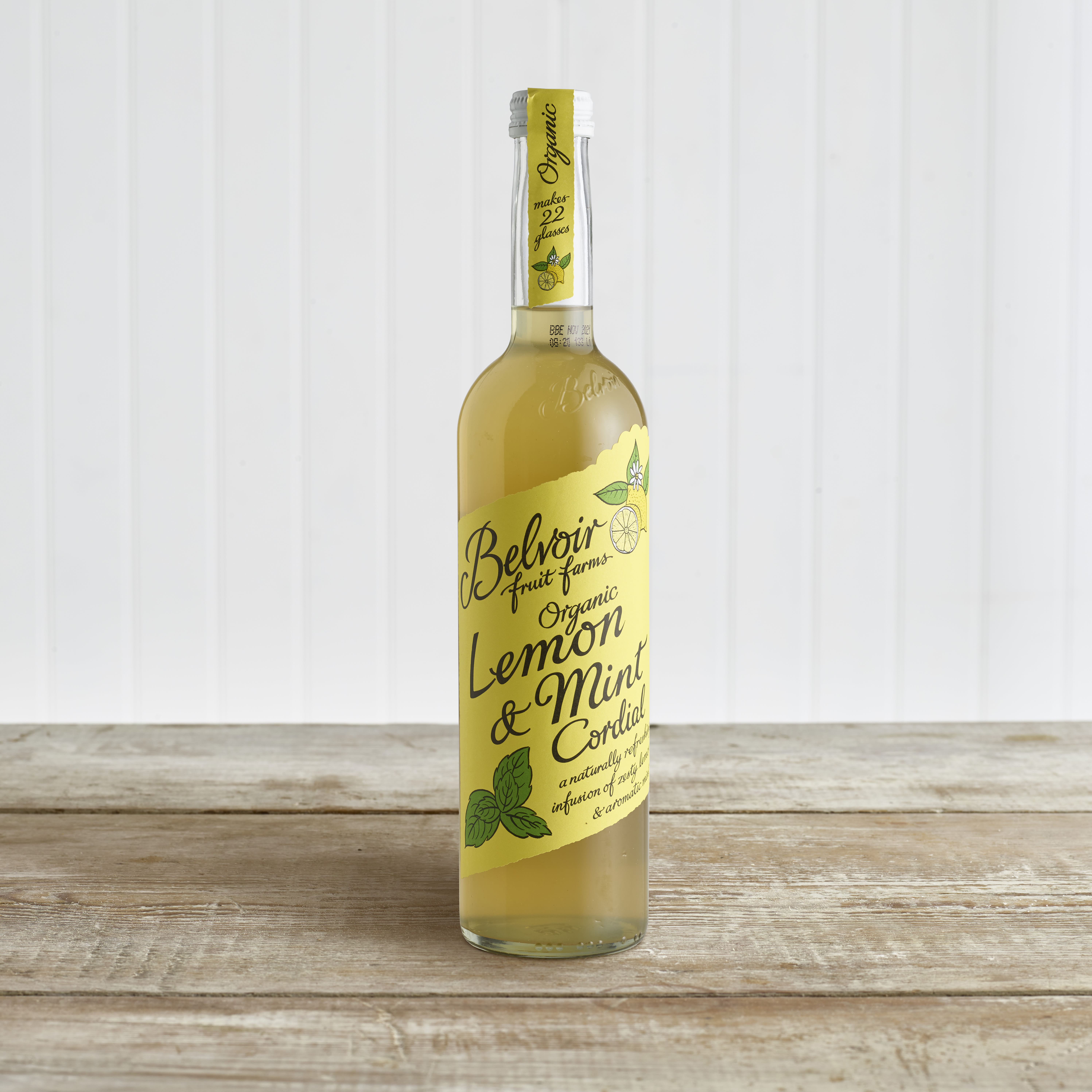 Belvoir Organic Lemon & Mint Cordial in Glass, 500ml