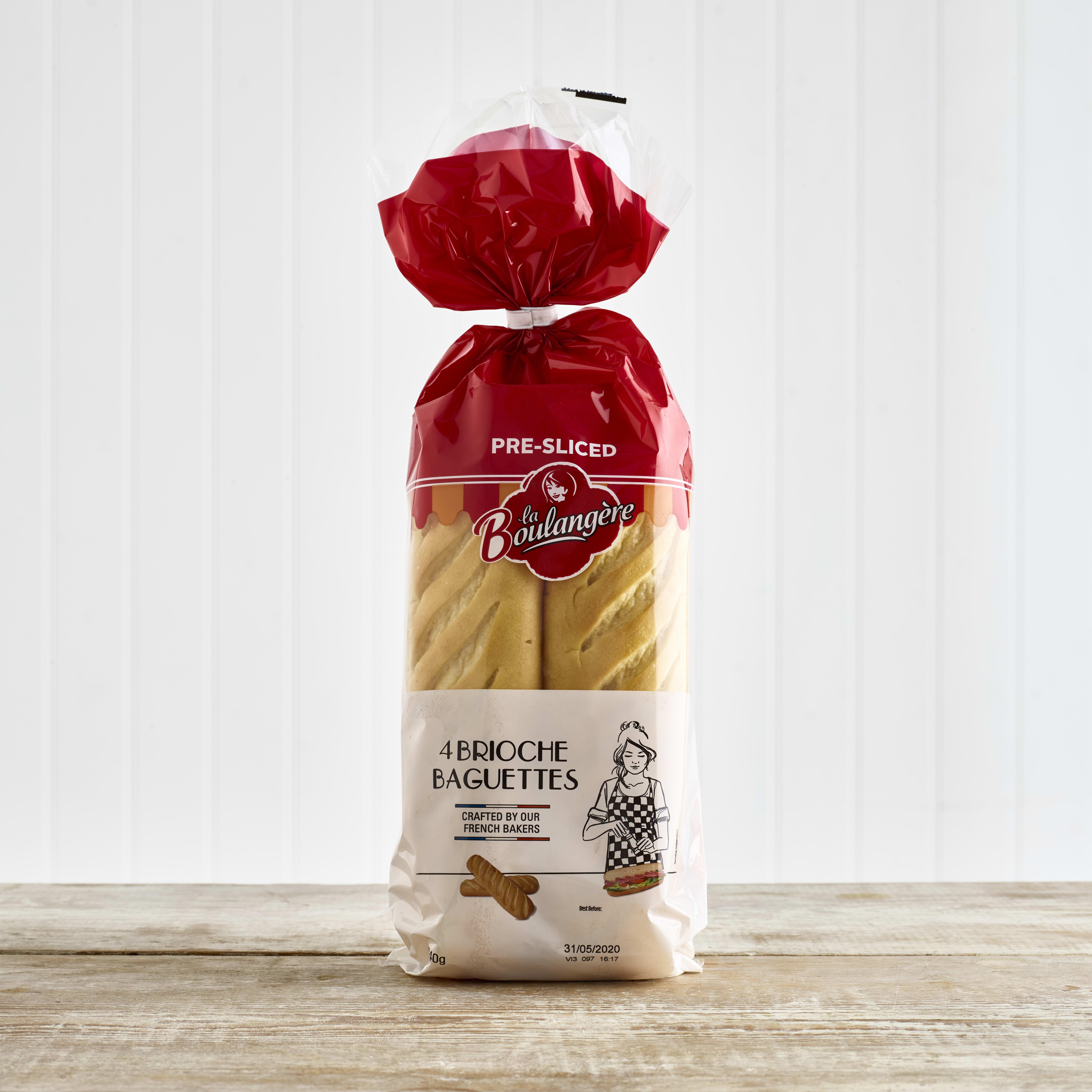 La Boulangère Brioche Baguettes, 4 Pack, 340g