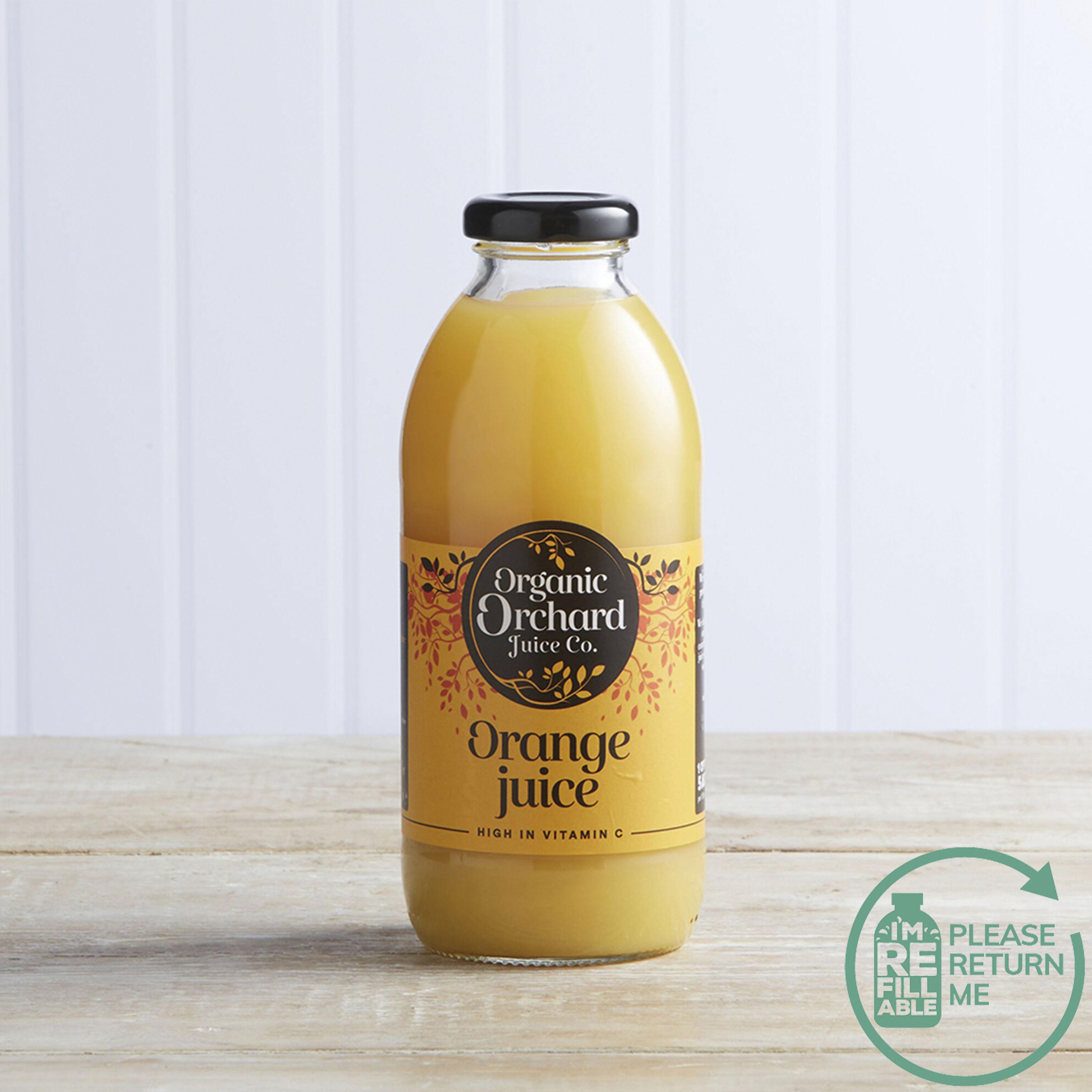 Organic Orchard Juice Co. Orange Juice in Glass, 500ml