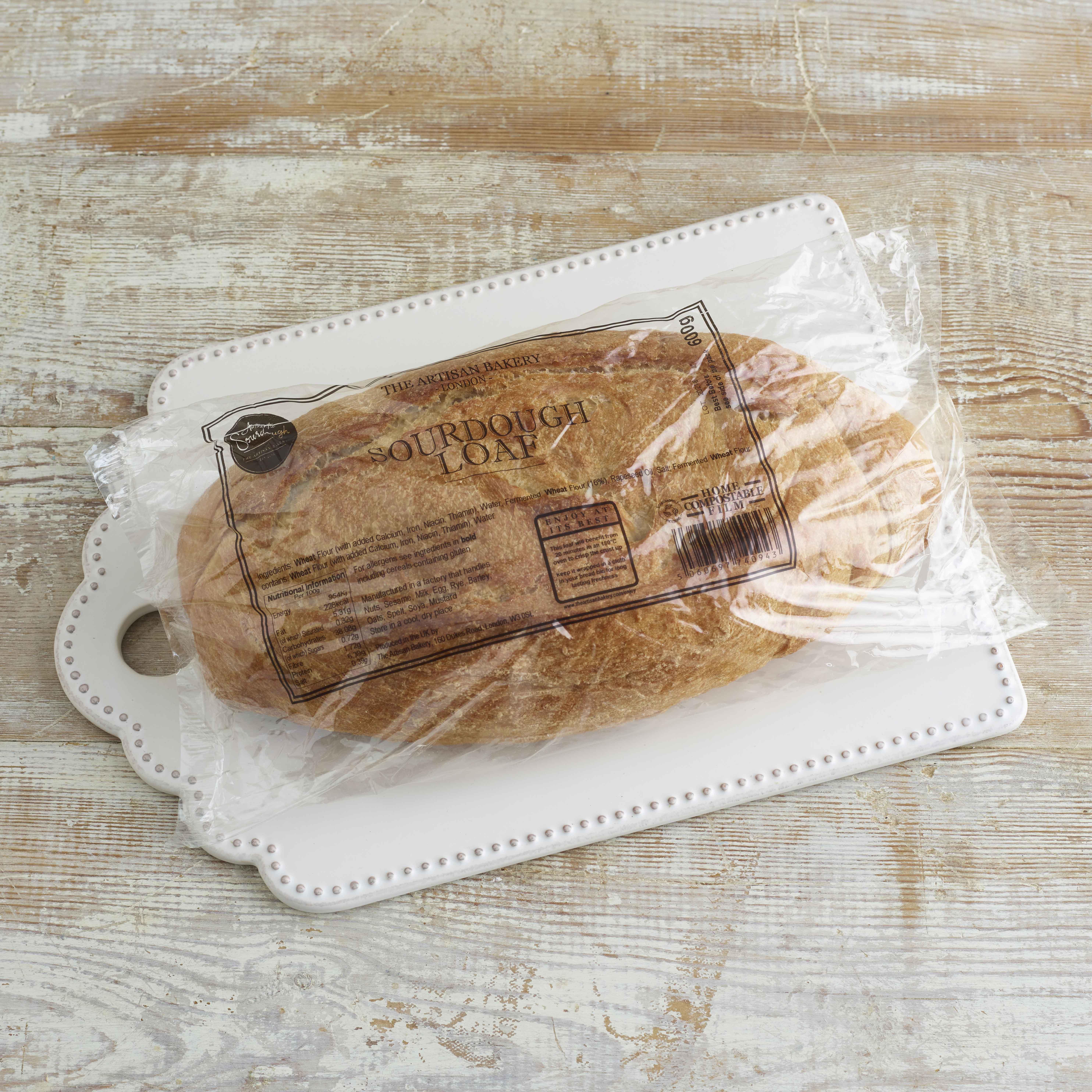 Artisan Bakery Sourdough Loaf, 600g