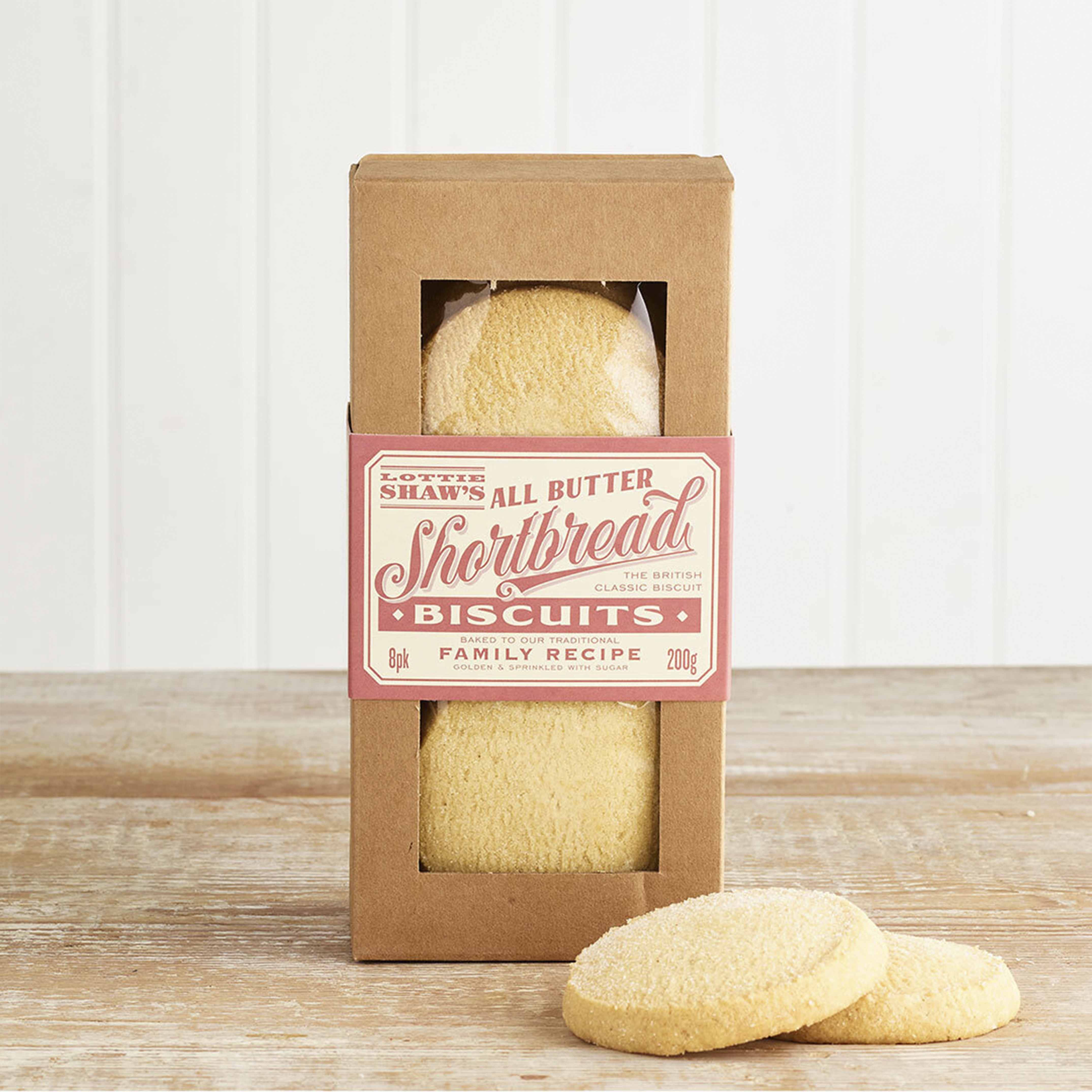 Lottie Shaw's All Butter Shortbread Biscuits, 200g