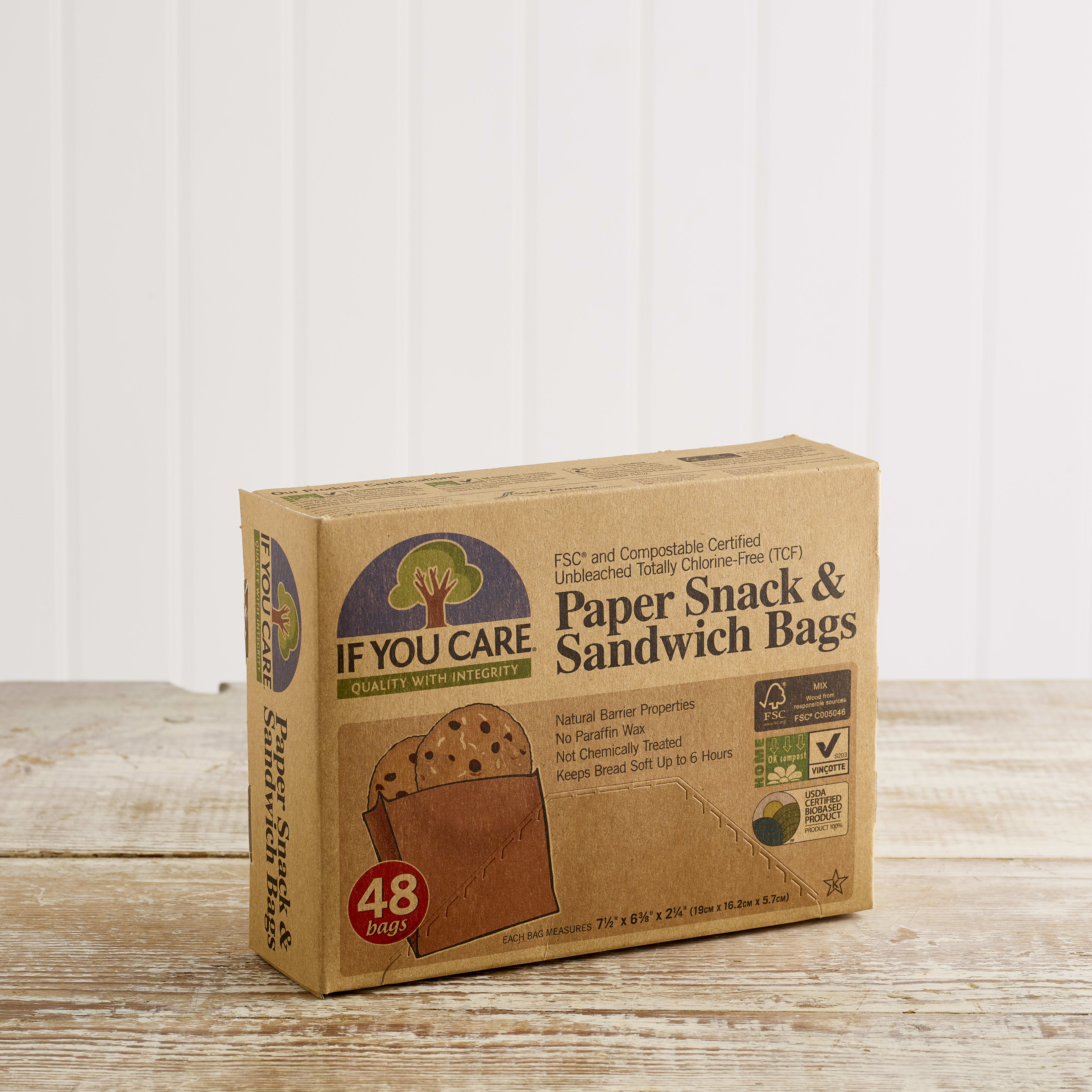 If You Care Sandwich and Snack Bags, 48 pack