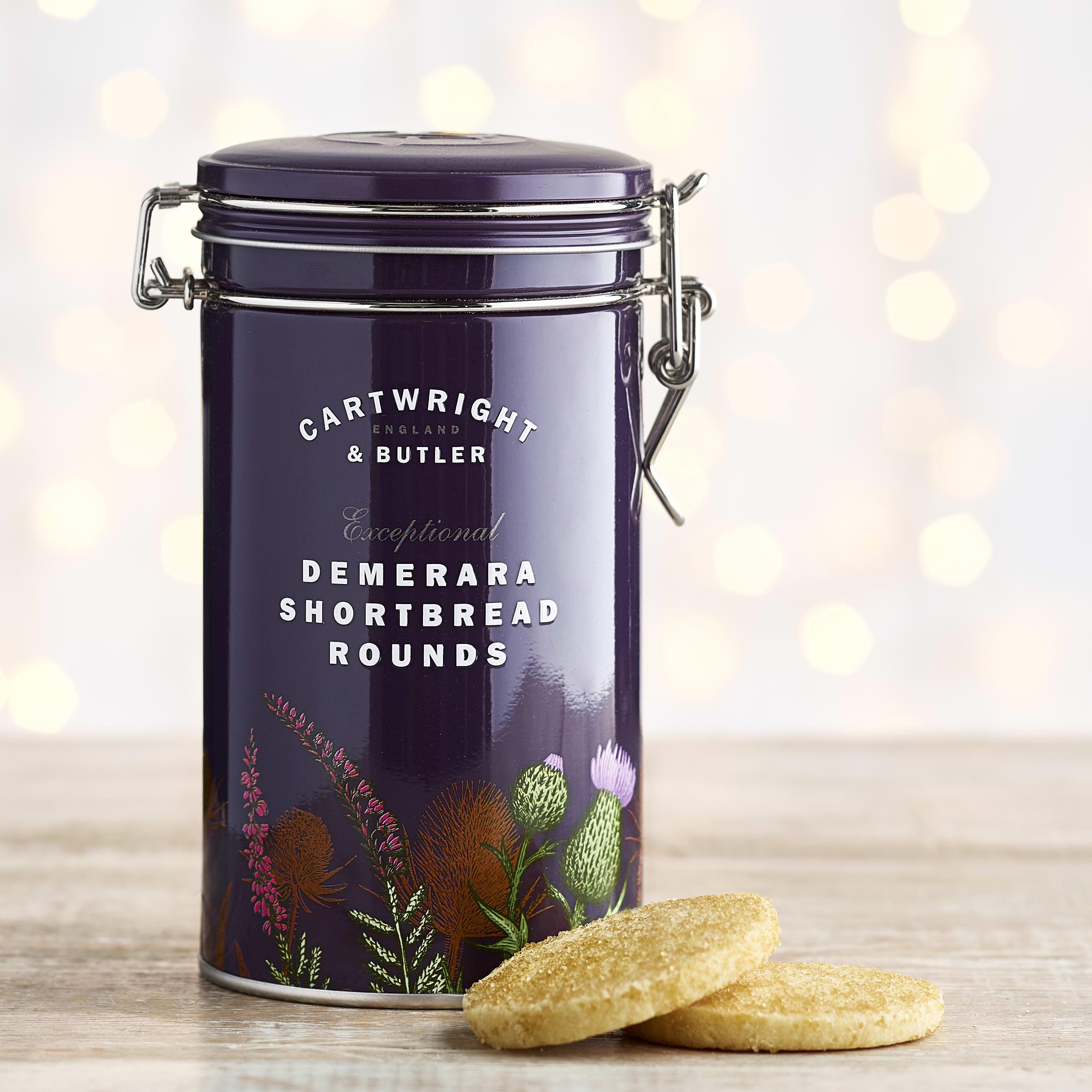 Cartwright & Butler Demerara Shortbread Rounds in Gift Tin, 200g