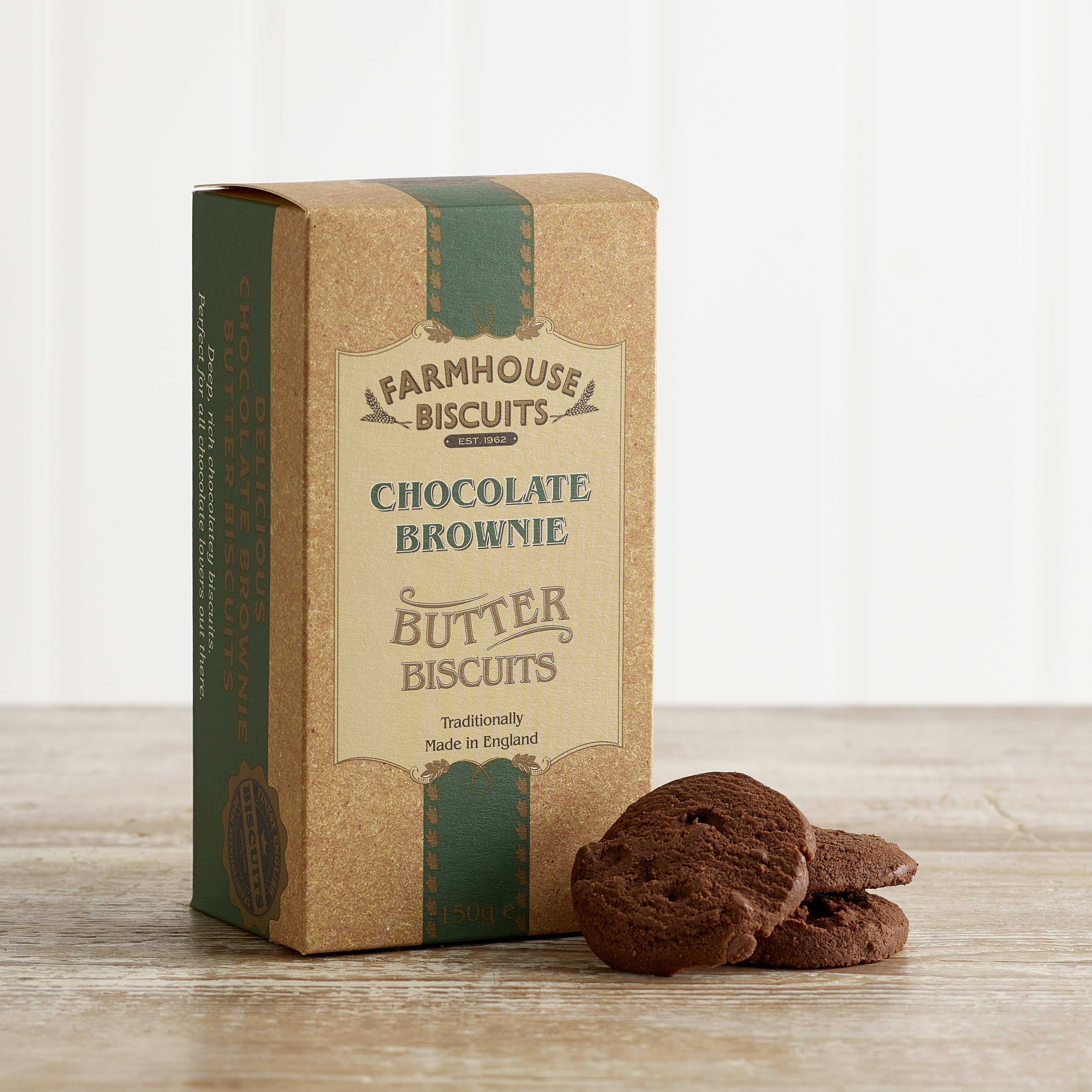 Farmhouse Chocolate Brownie Biscuits, 150g