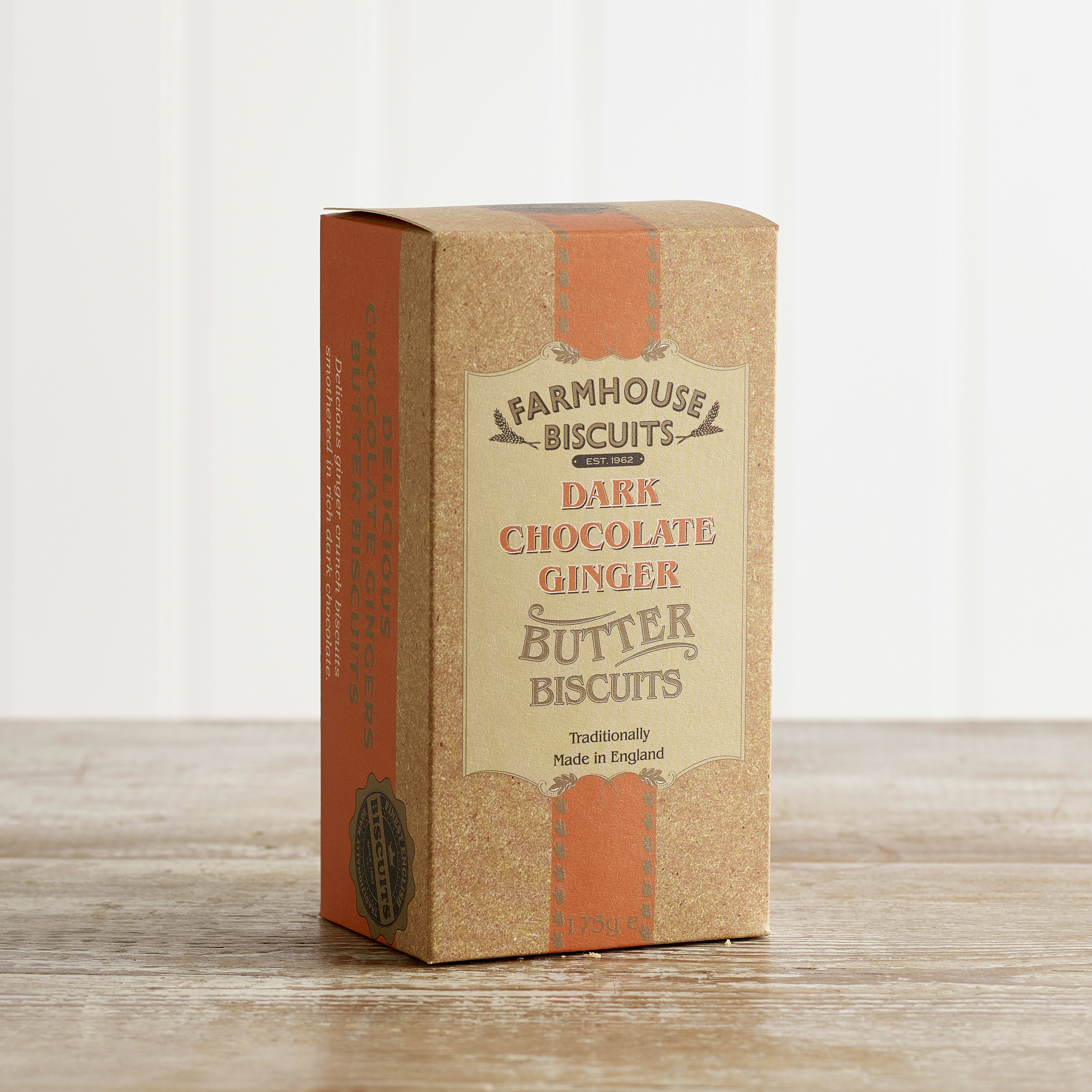Farmhouse Dark Chocolate Coated Ginger Biscuits, 150g