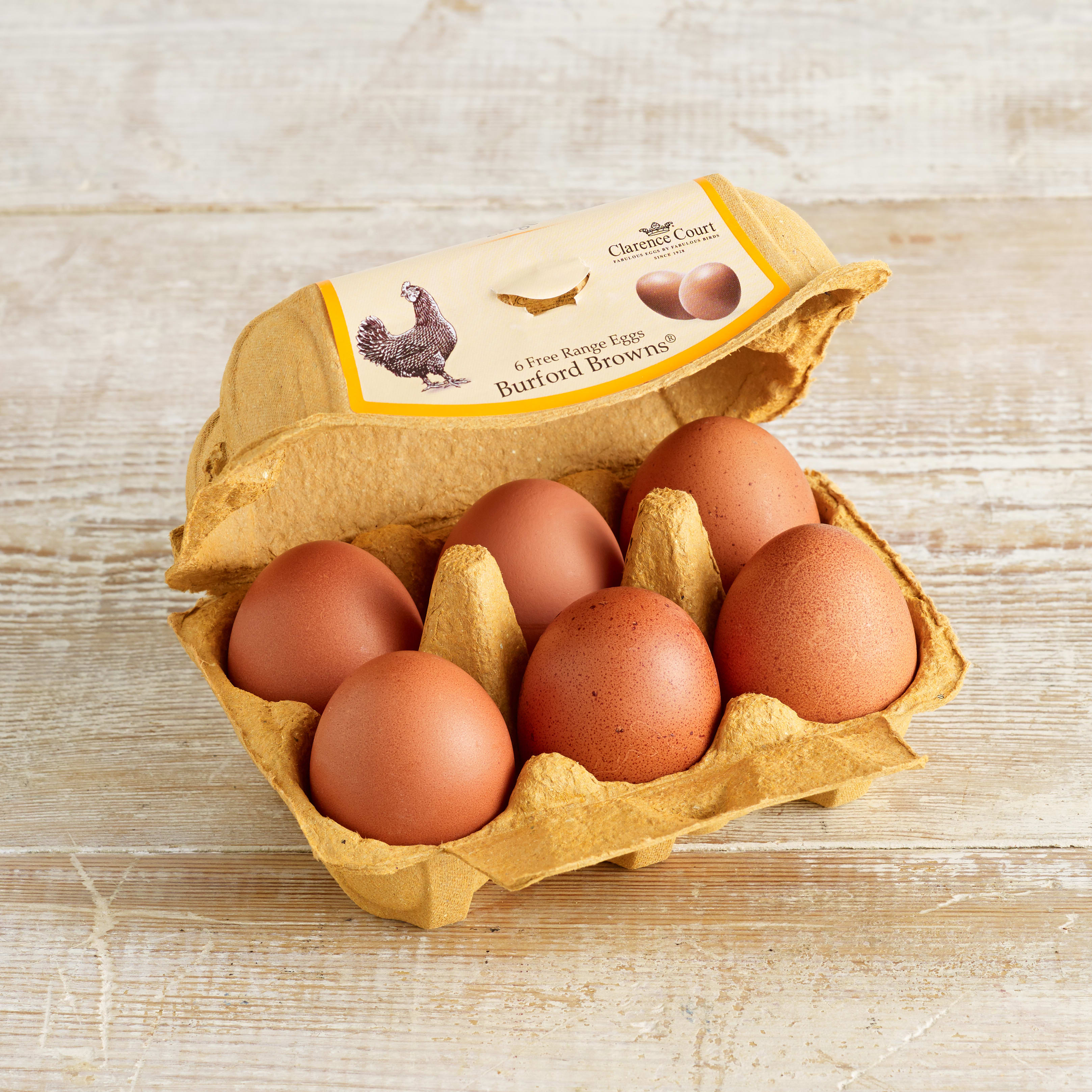 Clarence Court Burford Browns Large Free Range Eggs, 6 pack