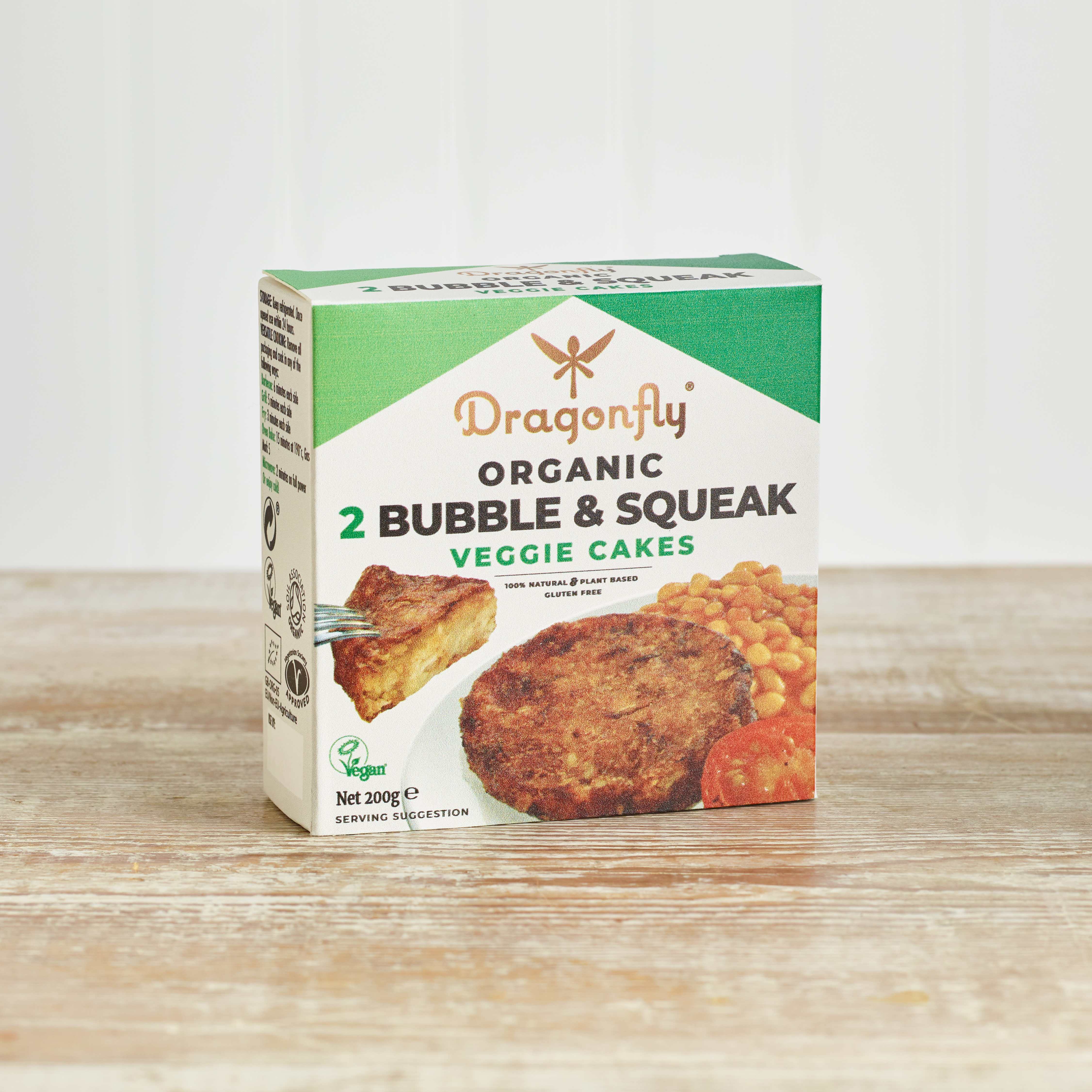 Dragonfly Organic Bubble & Squeak Vegetable Cakes, 2 pack