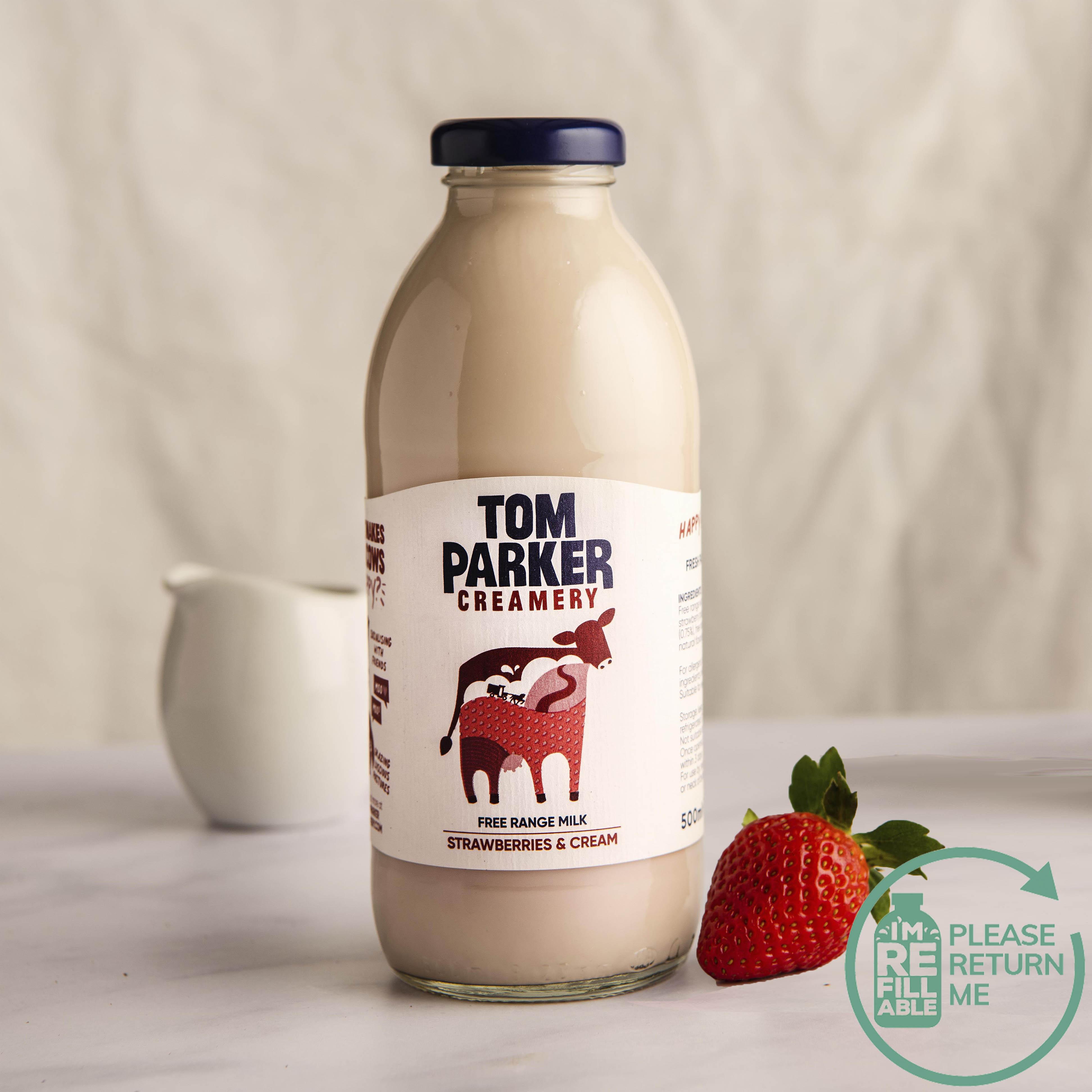 Tom Parker Strawberries & Cream in Glass, 500ml