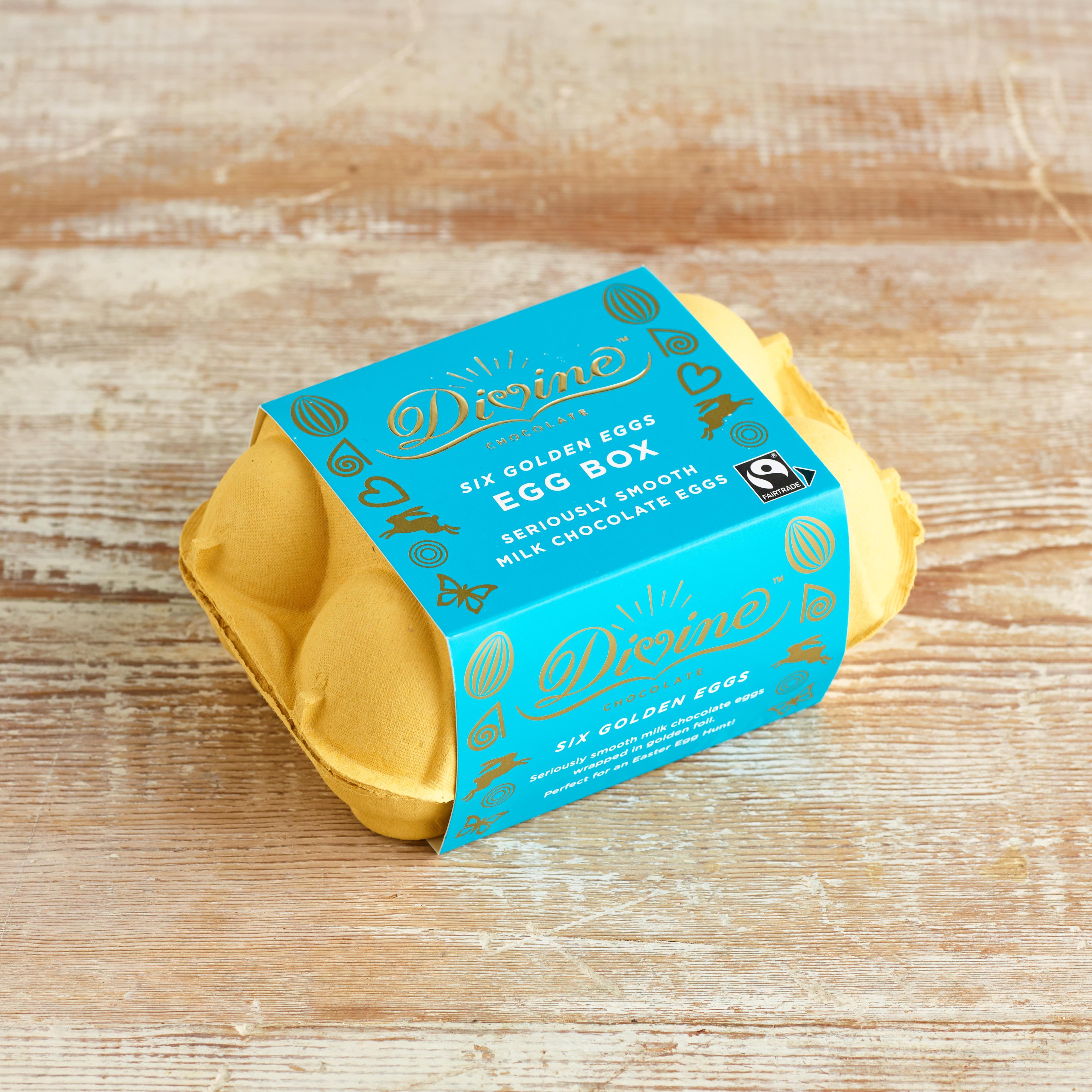Divine Milk Chocolate Easter Egg Box, 120g