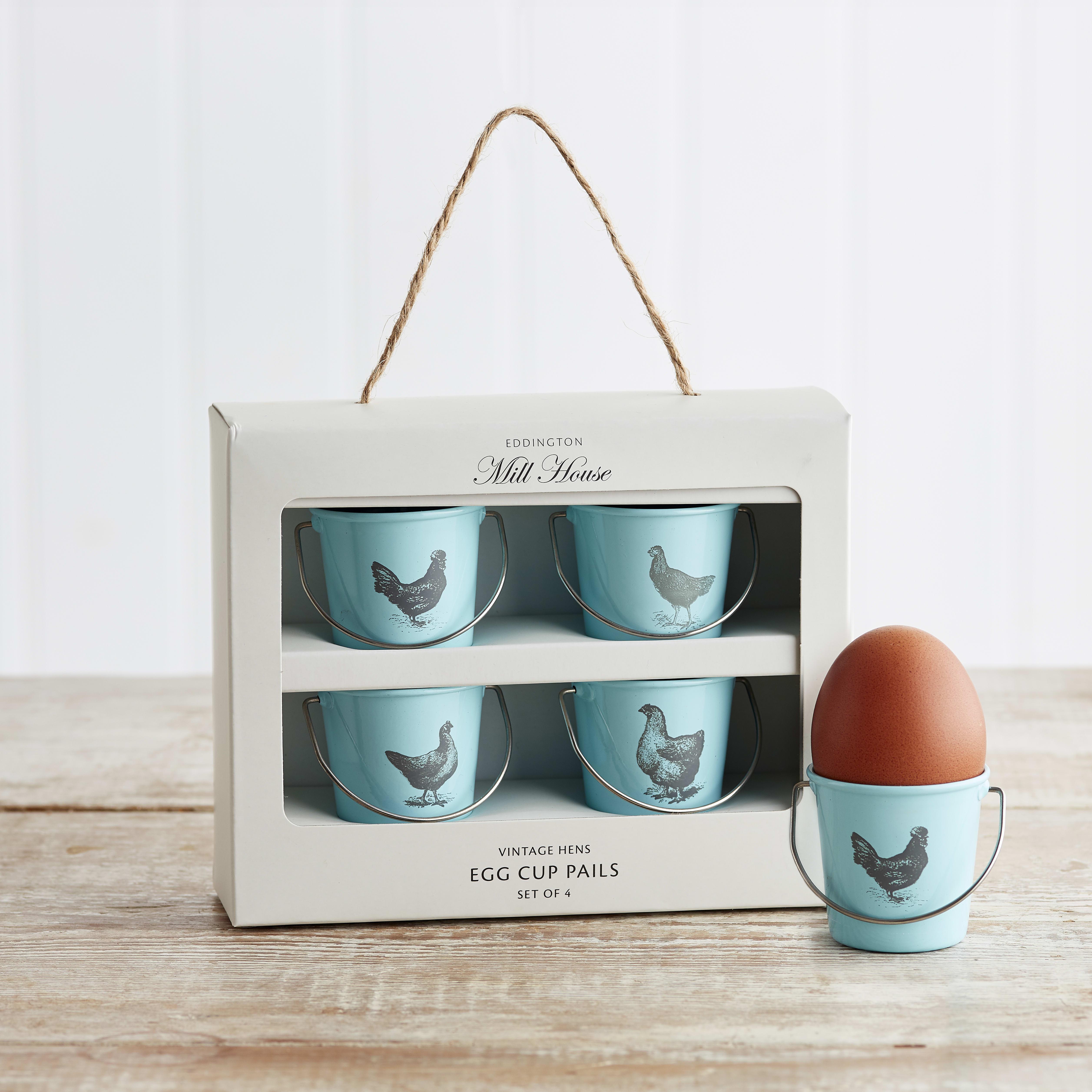 Eddingtons Vintage Egg Cup Pails, 4 Pack