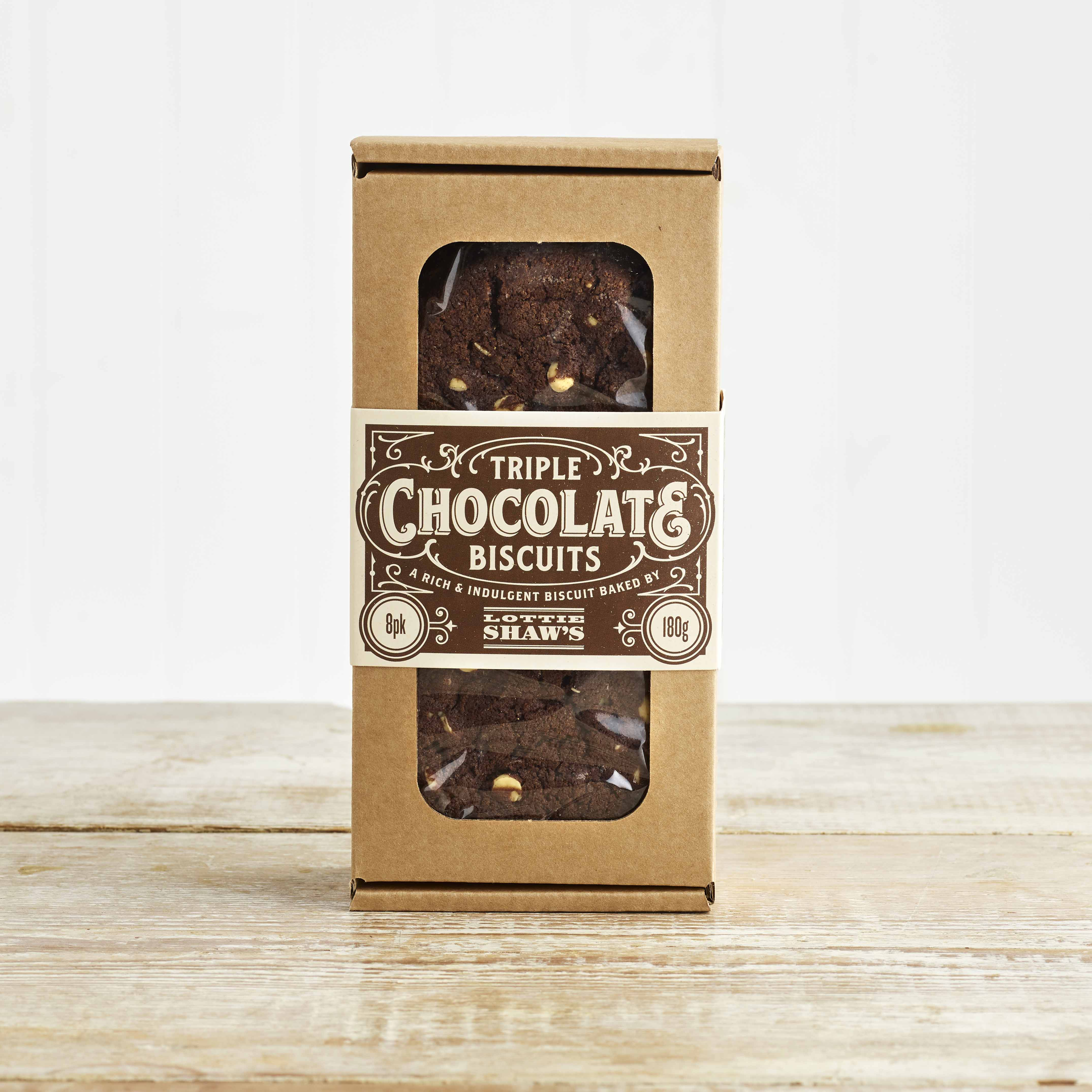 Lottie Shaw's Triple Chocolate Biscuits, 180g