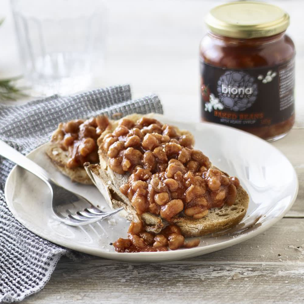 Biona Organic Baked Beans in Glass, 340g