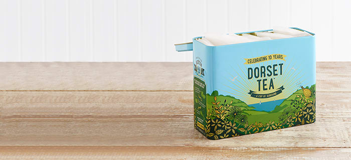 Free Dorset Tea Metal Caddy with every Dorset Tea purchase