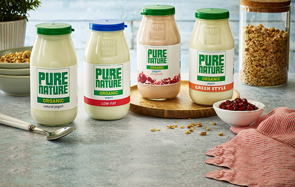 Pure Nature yoghurts