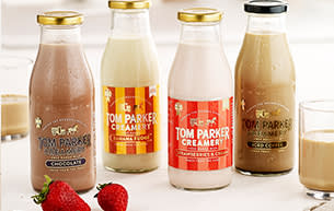 Tom Parker flavoured milks from Milk & More