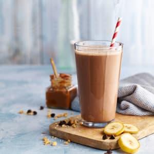 Chocolate, Peanut Butter and Banana Shake