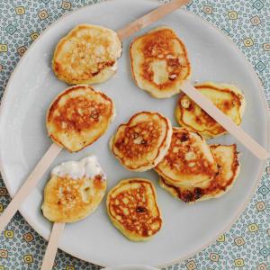 Lemon and White Chocolate Pancake Pops