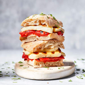 Halloumi and Roasted Red Pepper Toastie