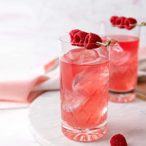 Frozen Raspberry and Kombucha Mocktail