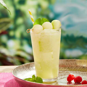 The Sweetest Melon Ball Mocktail