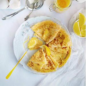 Lemon Curd Crepes