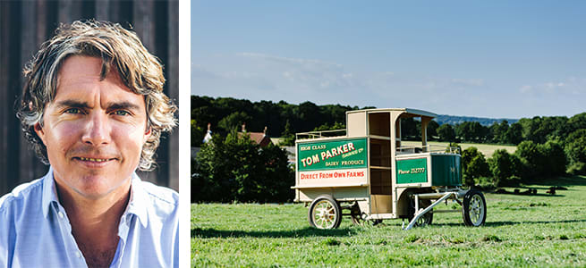 Jack Martin and a vintage Tom Parker milk float