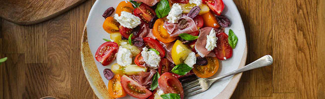 Tomato and Goats Cheese Salad
