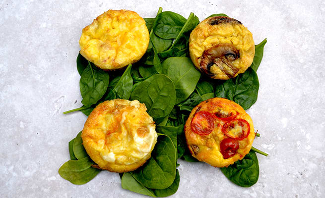 Breakfast Egg Muffins Four Ways