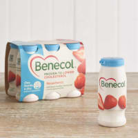 Benecol Strawberry Yoghurt Drinks, 6 x 67.5g