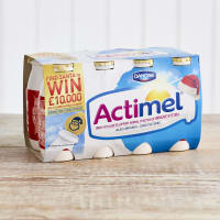 Actimel Original Fat Free Yoghurt Drinks, 8 x 100g