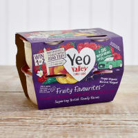 Yeo Valley Organic Fruity Favourites Yoghurts, 4 x 120g