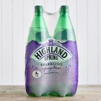 Highland Spring Sparkling Water Multipack, 4 x 1.5L