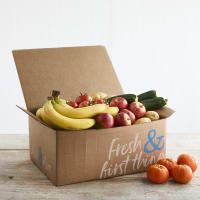 Organic Fruit and Veg Box with Fairtrade Bananas