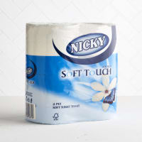 Nicky Soft Touch Toilet Rolls, 4 Pack