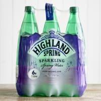 Highland Spring Sparkling Water Multipack, 6 x 1L