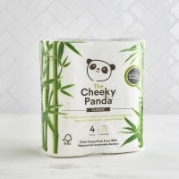 The Cheeky Panda Bamboo Toilet Roll, 4 Pack