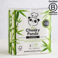 The Cheeky Panda Bamboo Kitchen Towel, 2 Pack