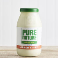 Pure Nature Organic Greek Style Yoghurt in Glass, 500g