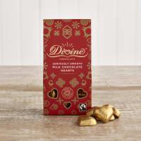 Divine Milk Chocolate Hearts, 80g