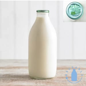 Milk & More Organic Semi Skimmed Milk in Glass, 568ml, 1pt