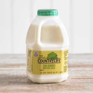 Country Life Semi Skimmed Milk, 568ml, 1pt