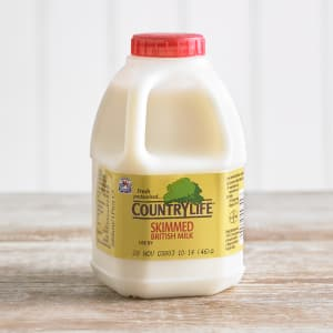 Country Life Skimmed Milk, 568ml, 1pt