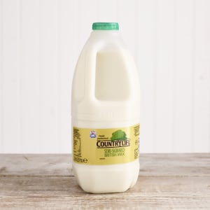 Country Life Semi Skimmed Milk, 2L