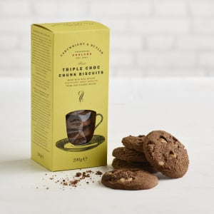 Cartwright and Butler Triple Chocolate Chunk Biscuits, 200g
