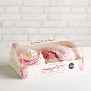 Flower & White Giant White Chocolate & Raspberry Meringue, 70g x 2